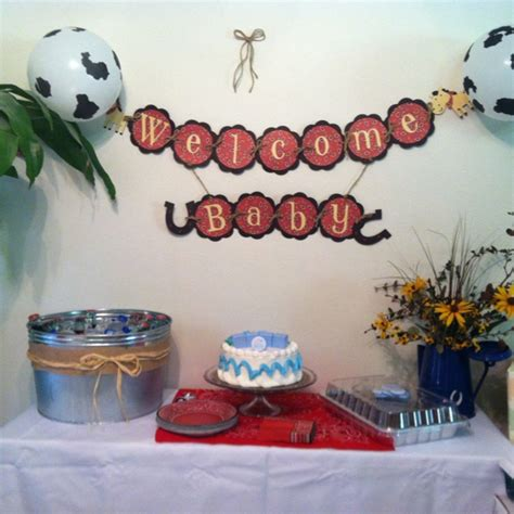 Cowboy Baby Shower Ideas by Western Cowboy Theme Baby Shower Lasso The Pony