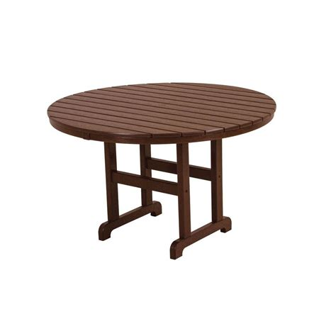 Arlington House Glenbrook 48 In Black Round Patio Dining 48 Patio Table