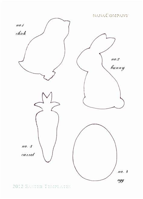 Free Printable Rabbit Template