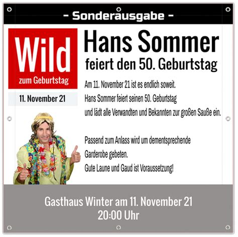 Banner Drucken Online Gestalten by Banner Zum Geburtstag Quot Wild Quot Online Gestalten Banner Aus