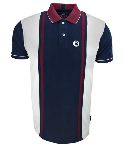 Navy Stripe Vertical Shirt trojan records navy cut sew stripe polo t shirt