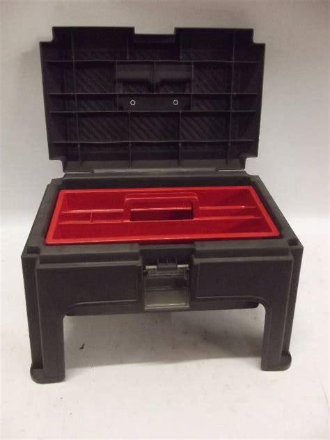 Rubbermaid Stool Tool Box by Rubbermaid Foot Stool Tool Box T Sales Equip Bid