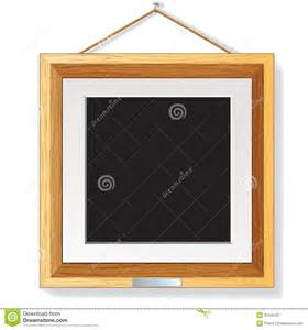 modern picture frames wall wooden photo frame on the wall vector illustration royalty