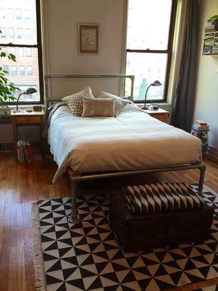 modern pipe bed frame diy design idea adding industrial
