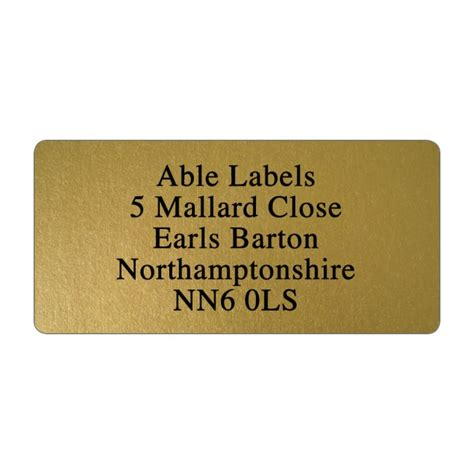 Etiketten Gold by Gold Address Labels Stickers Able Labels
