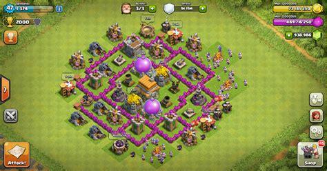 layout coc th 6 yang kuat base th 6 terbaik dan terbukti paling kuat update terbaru