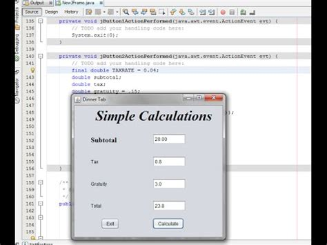 simple java swing program easy java gui easy java calculations youtube