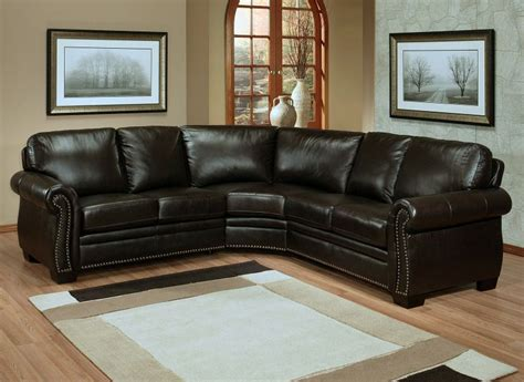 Small Leather Sectional Sofas Small Leather Sectional Sofa Homefurniture Org