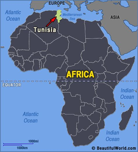 tunisia on map tunisia africa map map of africa
