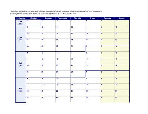 printable monday through friday calendar 2015 calendar 4 best images of monday through friday printable teacher