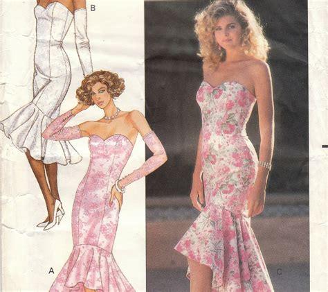 fishtail mermaid dress pattern butterick 6208 size 6 8 10