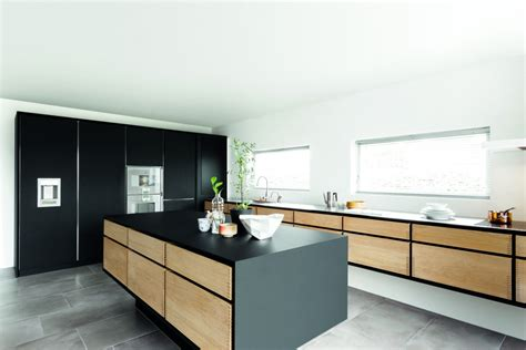 minimal kitchen cabinets minimalistic kitchen in oak linoleum and solid steel by