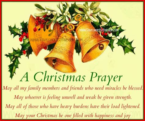 daveswordsofwisdom com a christmas prayer