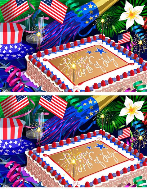 4th Of July Postcard Template
