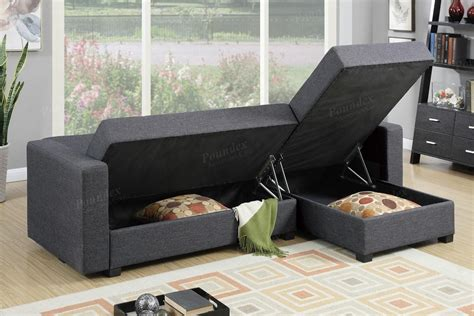 Sofa Bed Lipat 1 Pcs Bantal levon 2pc sectional with fold and storage futons