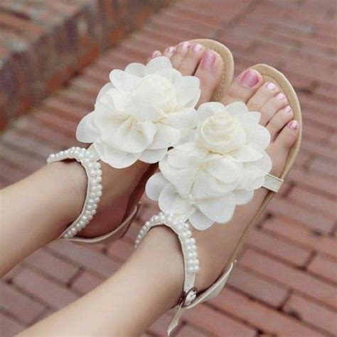 white flower sandals white sandals what to wear with white sandals