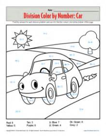 division color by number division coloring worksheets davezan