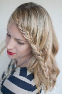 For short hair is the side french braid this easy to do hairstyle