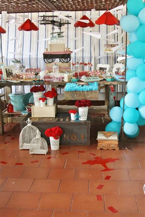Airplane Baby Shower Ideas by Vintage Airplane Baby Shower Ideas Supplies Idea