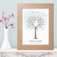 Heart Fingerprint Tree   Unique Wedding Christening