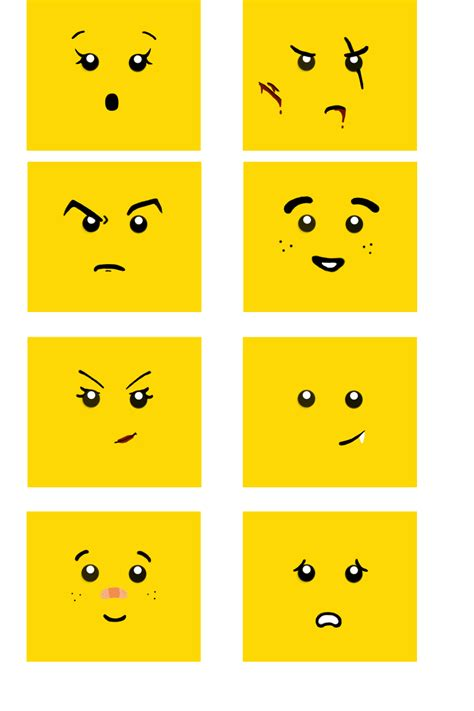lego head decals images