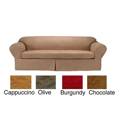 microsuede sofa slipcover 17 best images about sofa slipcover on pinterest stretch