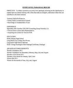 Sample Entry Level Paralegal Resume entry level paralegal resume sample resumes design