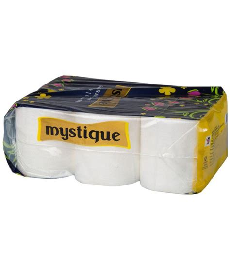 mystique  ply toilet tissue paper roll  rolls usable sheets   buy