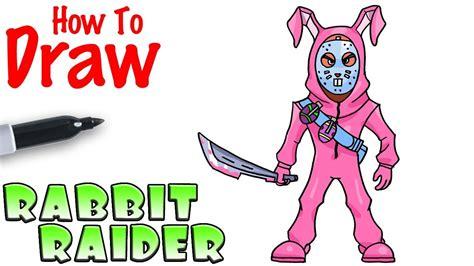 draw  rabbit raider fortnite youtube easy bunny