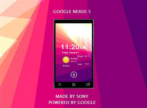 sony nexus nexus 5 made by sony powered by android key lime