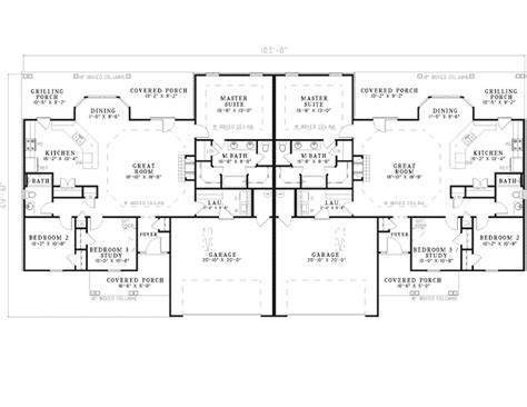 ranch duplex floor plans kendelcrest ranch duplex plan 055d 0072 house plans and more