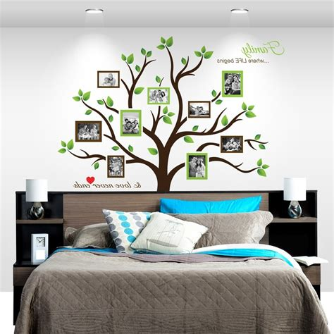 timber artbox large family tree photo frames wall decal the best tree of wall stickers