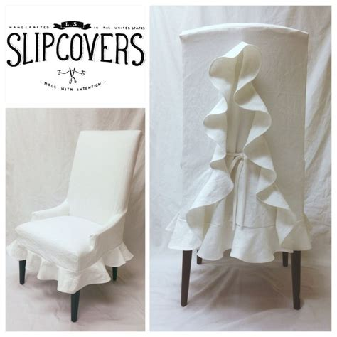 ruffled dining chair slipcovers 25 best ideas about chair slipcovers on pinterest