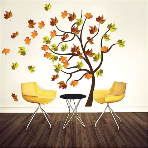 wall decal murals autumn tree wall decal mural fall tree decals primedecals