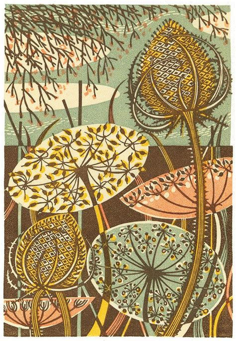 pin by angie zorich on timber frame pinterest on teasel wood engraving print by angie lewin printmaker
