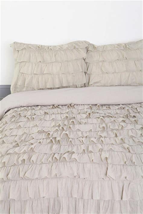 waterfall bedding waterfall ruffle duvet cover gray contemporary duvet