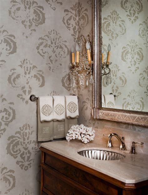 bathroom wall stencil ideas remarkable fleur de lis towel rack decorating ideas images in bathroom traditional design ideas