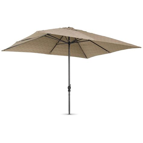 Patio Umbrellas Rectangular 8x10 Rectangular Umbrella Khaki 161330 Patio Umbrellas At Sportsman S Guide