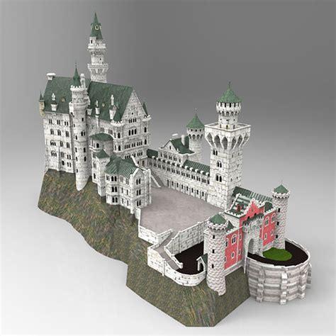 neuschwanstein castle  obj  fbx formats  cgtrader