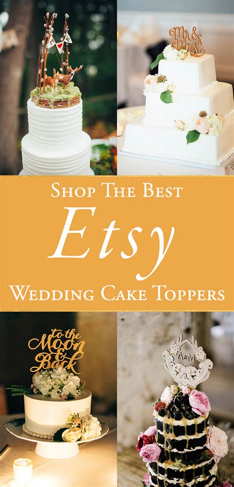 Wedding Cake Toppers Etsy the best etsy wedding cake toppers junebug weddings