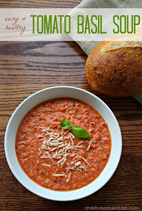 easy healthy tomato basil soup recipe christinas