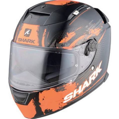 Motorradhelme Orange by Motorradhelm Shark Speed R Duke Schwarz Orange Dekor