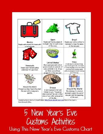 new year traditions and activities new year s customs sheet and activities