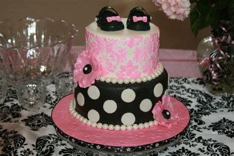 Black And Pink Baby Shower Cakes by Pink And Black Damask Baby Shower Cakecentral