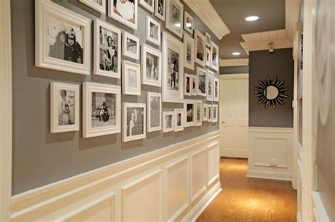 wall designs for hall hallway photo wall transitional entrance foyer jenn