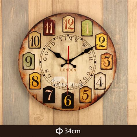 contemporary wall clocks    wood carved