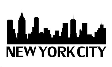 Wall Murals Cityscapes nyc skyline outline new york city skyline outline http