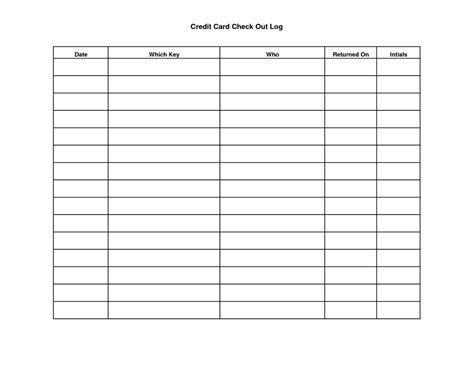 credit card sign out sheet template inspirational resident sign out sheet template ok52