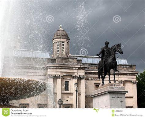 S Day United Kingdom King George Iv Statue Trafalgar Square Stock
