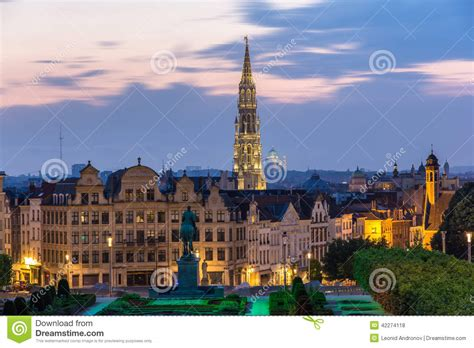 Mba Center Brussels by View Of Brussels City Center Belgium Stock Photo Image